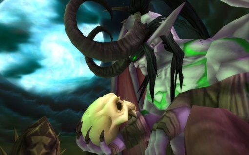 Kind of creepy he STILL holds onto the Skull of Gul'dan