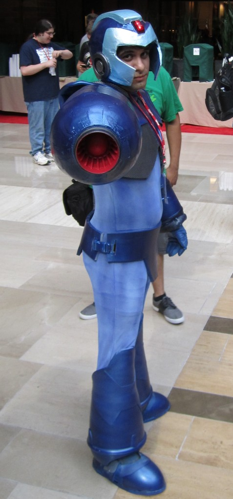 Video Game cosplays are often seen, with Mega Man here.